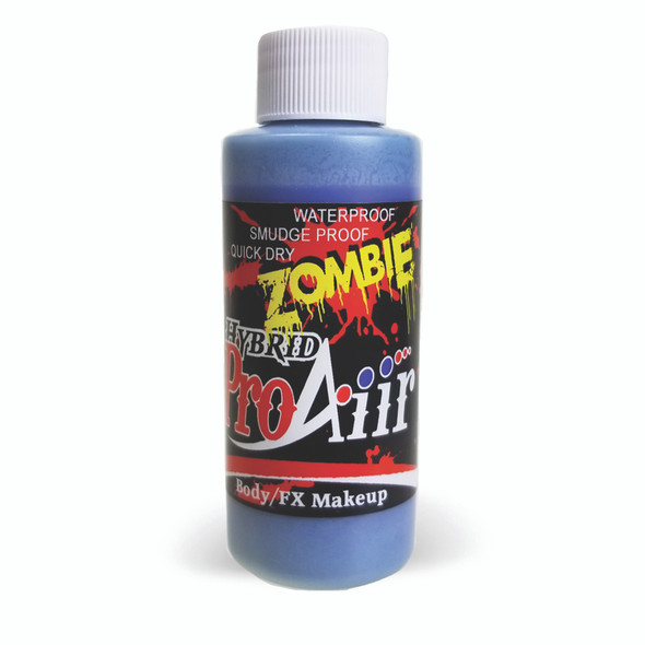 VASCULAR BLUE 'ZOMBIE' ProAiir Hybrid Waterproof Liquid Face and Body Paint for Airbrush