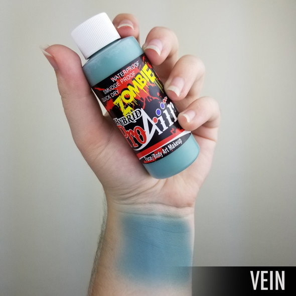 VEIN BLUE 'ZOMBIE' ProAiir Hybrid Waterproof Liquid Face and Body Paint for Airbrush