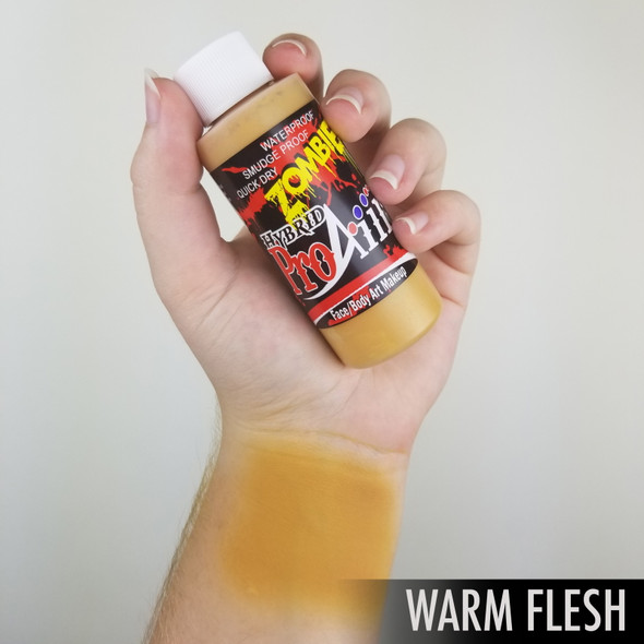WARM FLESH 'ZOMBIE' ProAiir Hybrid Waterproof Liquid Face and Body Paint for Airbrush