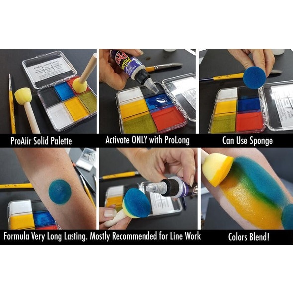 TRAUMA SOLIDS PALETTE ProAiir Water Resistant Face and Body Paint for Brush (cake)