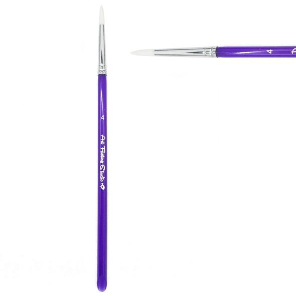 ROUND BRUSH SIZE 4 - Acrylic handle face paint brush by Art Factory
