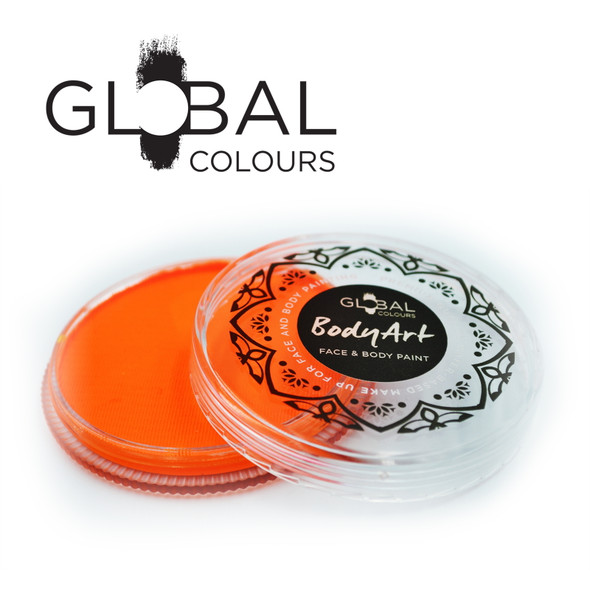 NEON UV ORANGE Face and Body Paint Makeup by Global Colours 32g