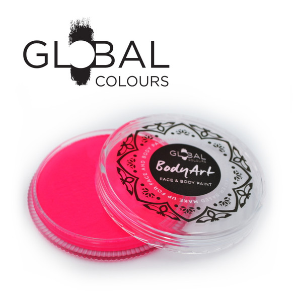 NEON UV MAGENTA Face and Body Paint Makeup by Global Colours 32g