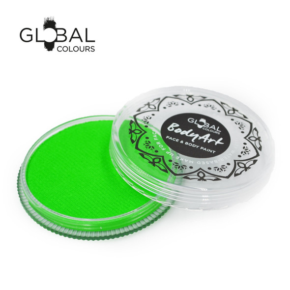 NEON UV GREEN Face and Body Paint Makeup by Global Colours 32g