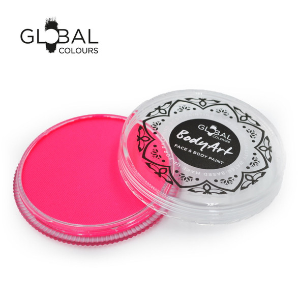 NEON UV PINK Face and Body Paint Makeup by Global Colours 32g