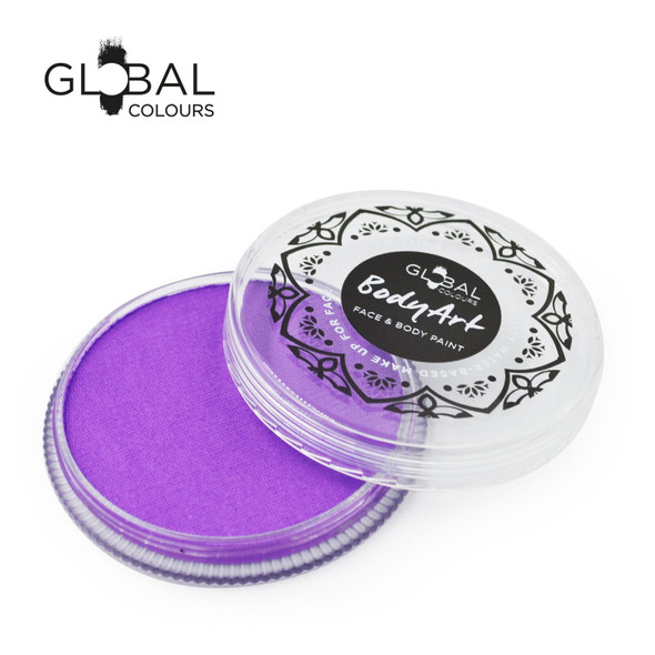 NEON UV PURPLE Face and Body Paint Makeup by Global Colours 32g