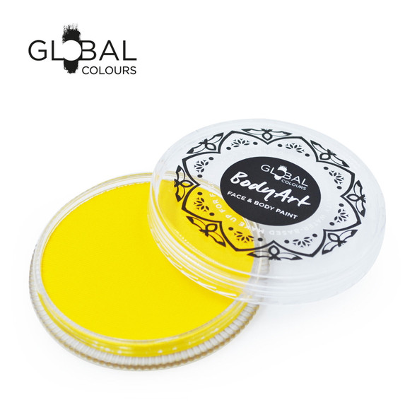 YELLOW LIGHT Face and Body Paint Makeup by Global Colours 32g