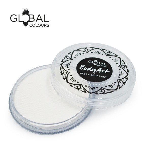 WHITE Face and Body Paint Makeup 32g by Global Colours