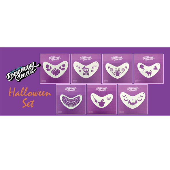 HALLOWEEN SET by Boomerang Face Painting Stencil [HALSET]