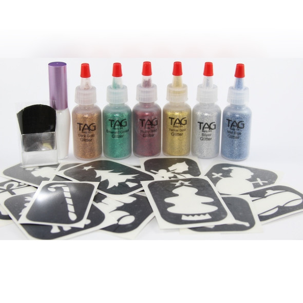Glitter Tattoo Christmas Party Kit