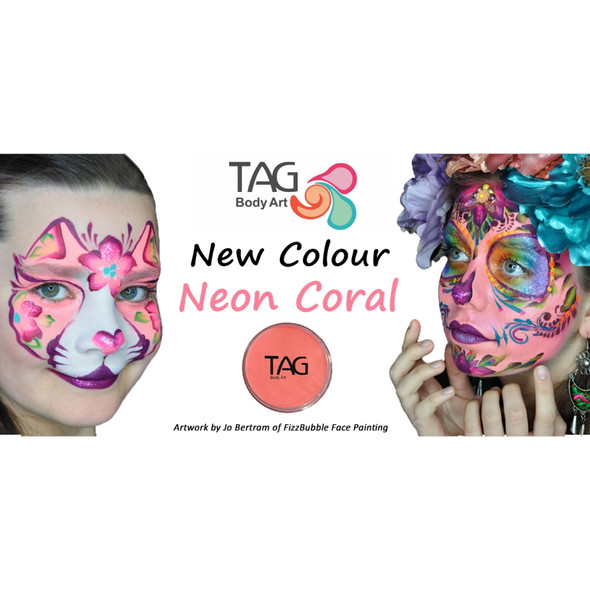 NEON CORAL by TAG Body Art