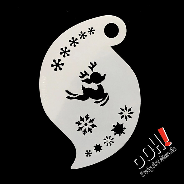 Baby Reindeer Christmas Face Paint Stencil by Ooh! Stencils R07