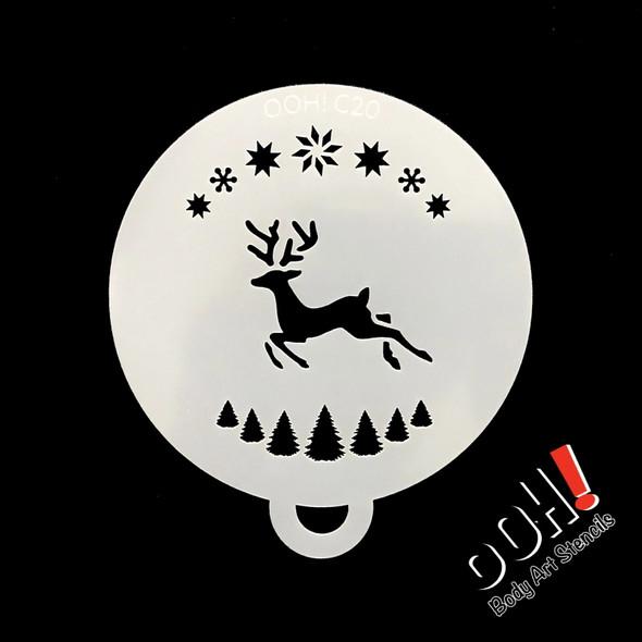 Reindeer Christmas Flips Stencil by Ooh! Stencils C20