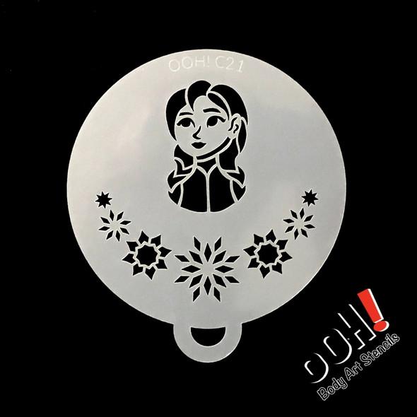 Snowflake Princess Flips Stencil by Ooh! Stencils C21