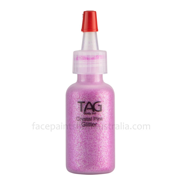 CRYSTAL PINK HOLOGRAPHIC cosmetic glitter dust (loose) by TAG Body Art