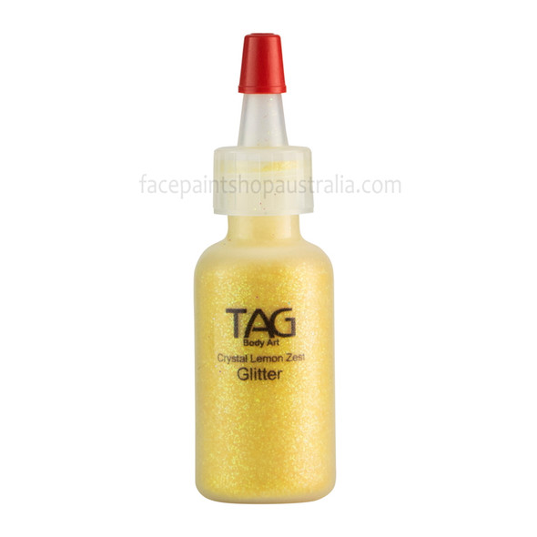 CRYSTAL LEMON ZEST HOLOGRAPHIC cosmetic glitter dust (loose) by TAG Body Art