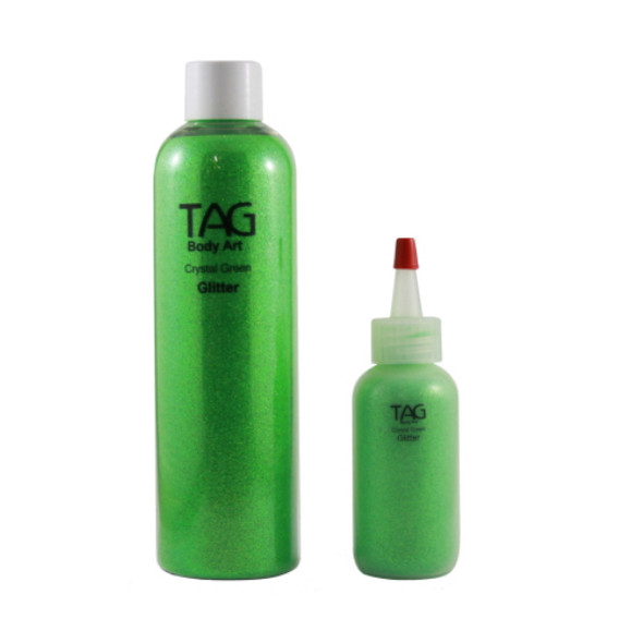 CRYSTAL GREEN HOLOGRAPHIC cosmetic glitter dust (loose) by TAG Body Art