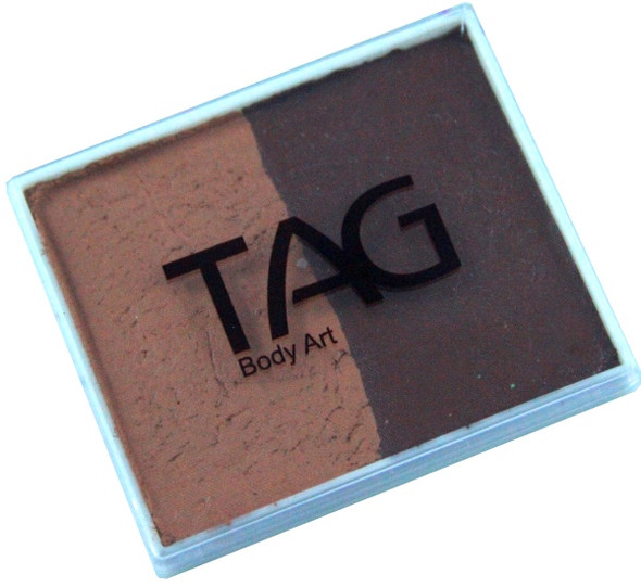BROWN-MID BROWN Split 50g Face and Body Paint by TAG Body Art
