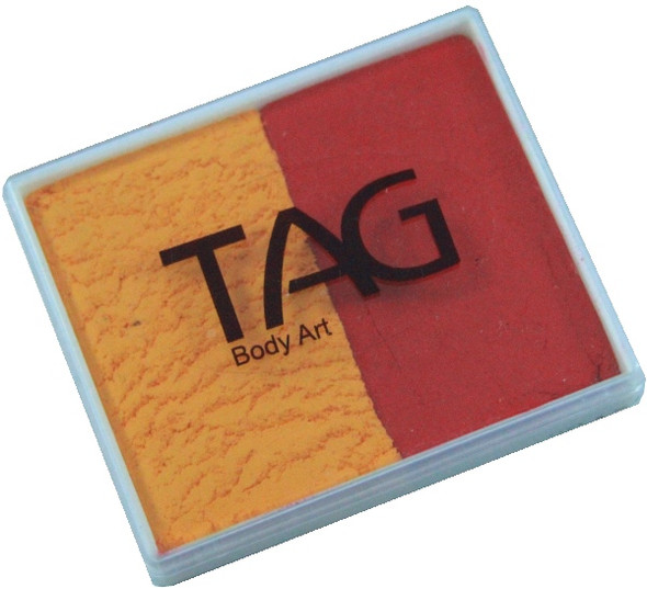 GOLDENORANGE-RED face paint split cake by TAG Body Art [regular] 50g
