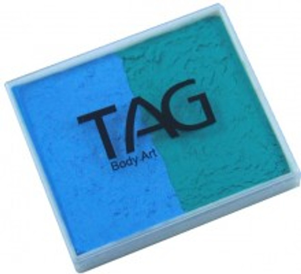 TEAL-LIGHT BLUE Split 50g Face and Body Paint by TAG Body Art