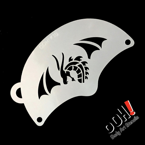 TRIBAL DRAGON Face Paint Stencil by Ooh! Stencils K10