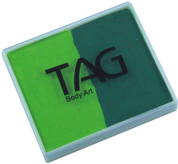 GREEN-LIGHT GREEN Split 50g Face and Body Paint by TAG Body Art