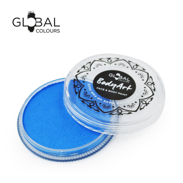 NEON UV BLUE Face and Body Paint Makeup by Global Colours 32g