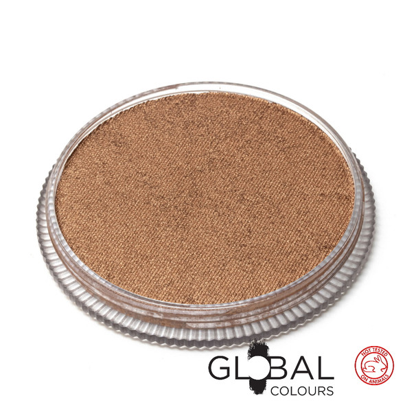 METALLIC BRONZE Face and Body Paint Makeup by Global Colours 32g