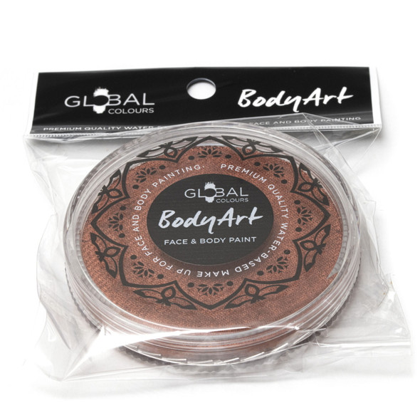 METALLIC COPPER Face and Body Paint Makeup by Global Colours 32g