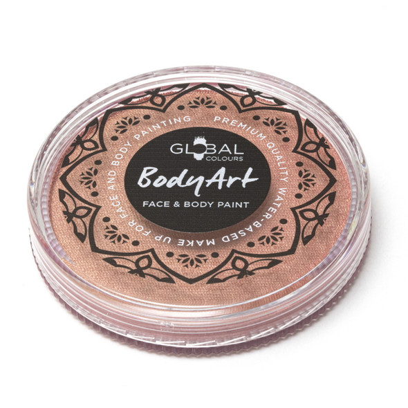 METALLIC ROSE GOLD Face and Body Paint Makeup by Global Colours 32g