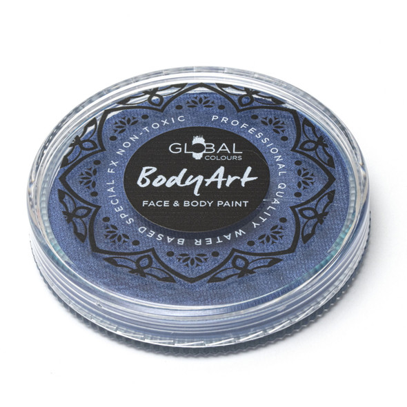 PEARL DEEP BLUE Face and Body Paint Makeup by Global Colours 32g