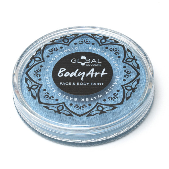 PEARL LIGHT BLUE Face and Body Paint Makeup by Global Colours 32g