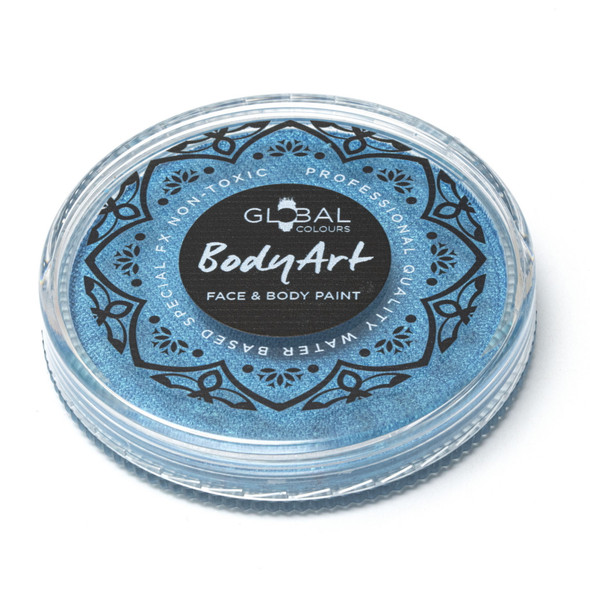 PEARL MEDITERRANEAN BLUE Face and Body Paint Makeup by Global Colours 32g