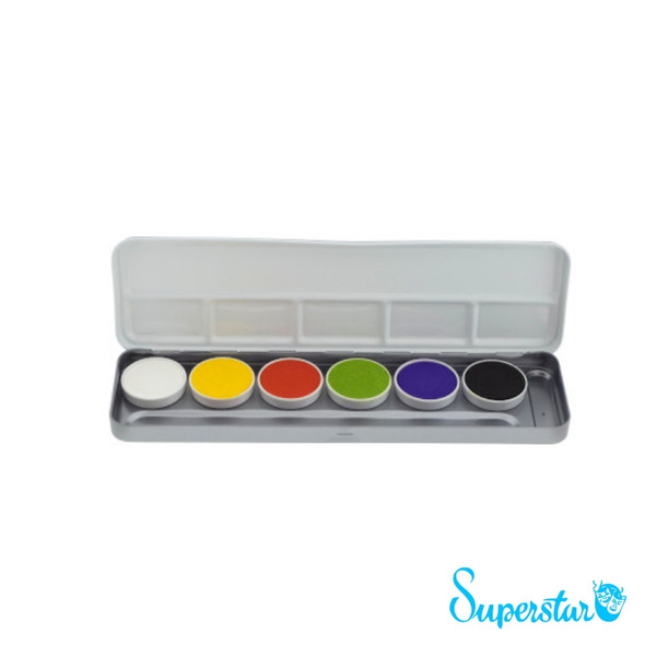 6 Bright Colours Face Paint Palette x 5g each by SUPERSTAR