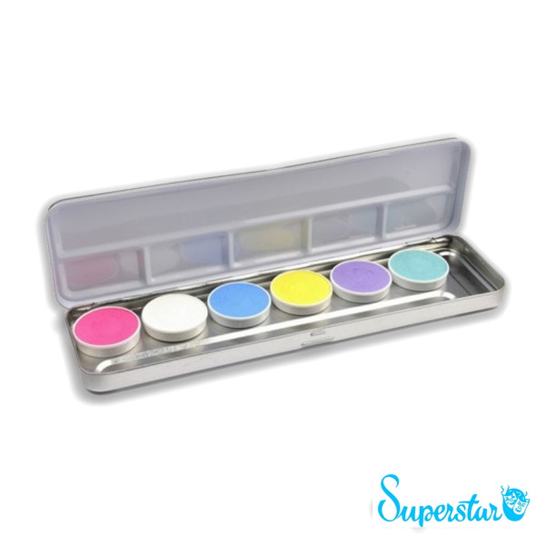 6 Pastel Colours Face Paint Palette x 5g each by SUPERSTAR