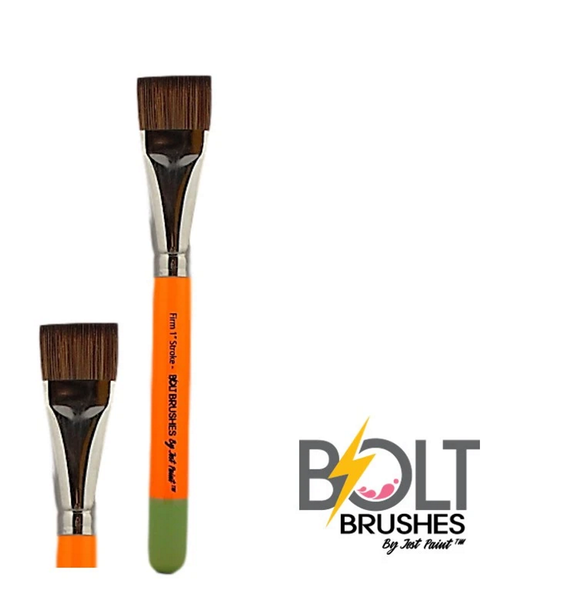 BOLT ONE STROKE FIRM 1 INCH Face Painting Brush by Jest Paint
