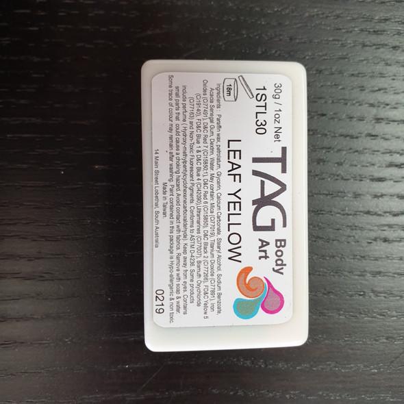 LEAF YELLOW one stroke split cake 30g by TAG Body Art