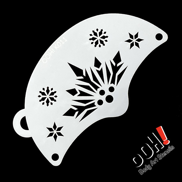 SNOWFLAKE QUEEN Face Paint Stencil by Ooh! Stencils K11