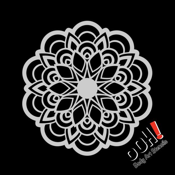 FLOWER Mandala Pattern Stencil by Ooh! Stencils S14