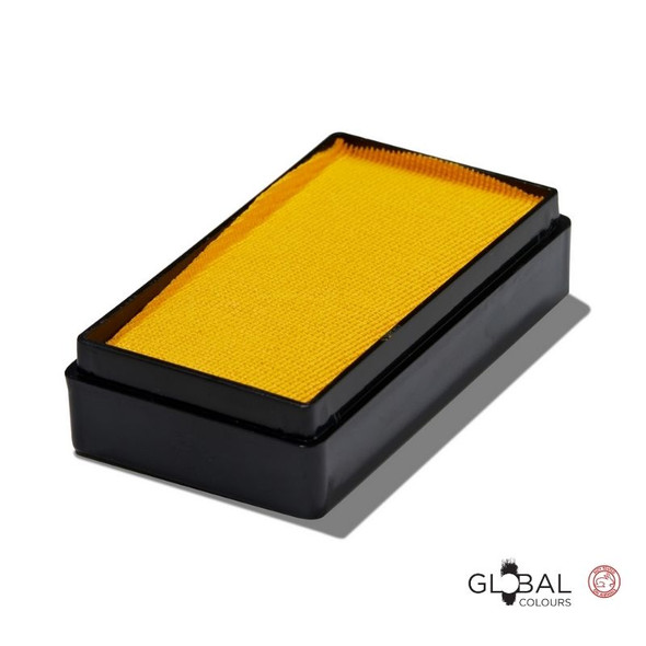 YELLOW 20g Face and Body Paint Makeup by Global Colours | Magnetic