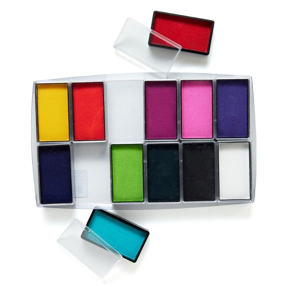 All You Need 12 Set Face and Body Art Set by Global Colours Palette Face Paint Shop Australia
