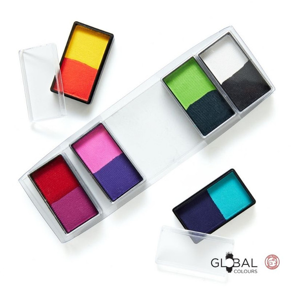 All You Need Mini 12 Set Face and Body Art Set by Global Colours Palette Face Paint Shop Australia