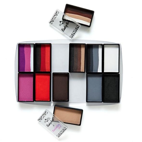 Furry Friends 12 Set Face and Body Art Set by Global Colours Palette Face Paint Shop Australia