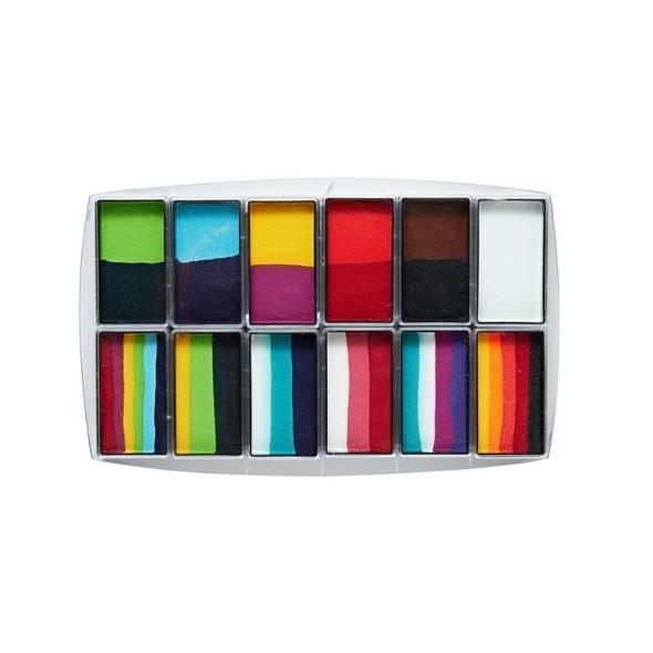 Carnival 12 Set Face and Body Art Set by Global Colours Palette Face Paint Shop Australia