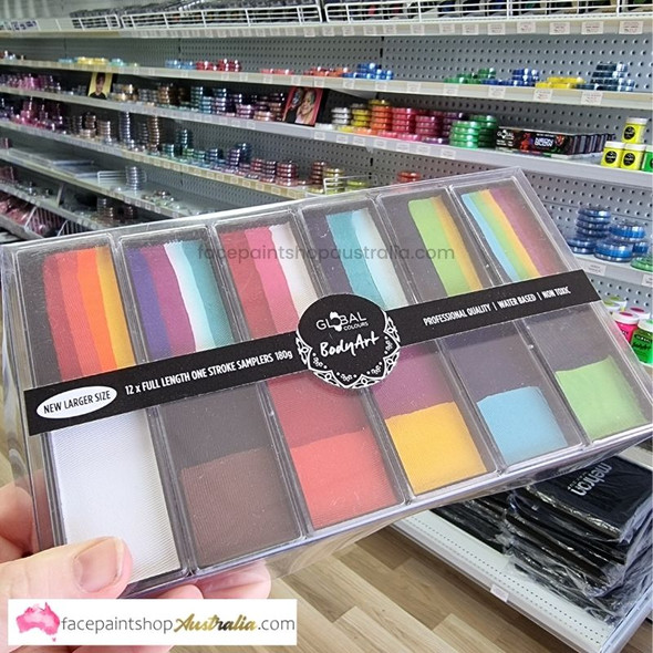 Carnival Palette Set Face and Body Paint by Global Colours - 12 pack