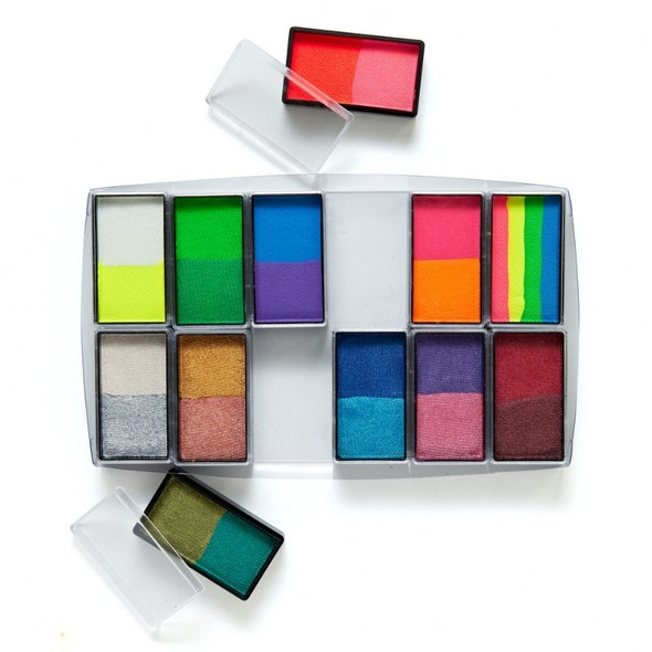 All You Need Bright & Shiny 12 Set Face and Body Art Set by Global Colours Palette Face Paint Shop Australia