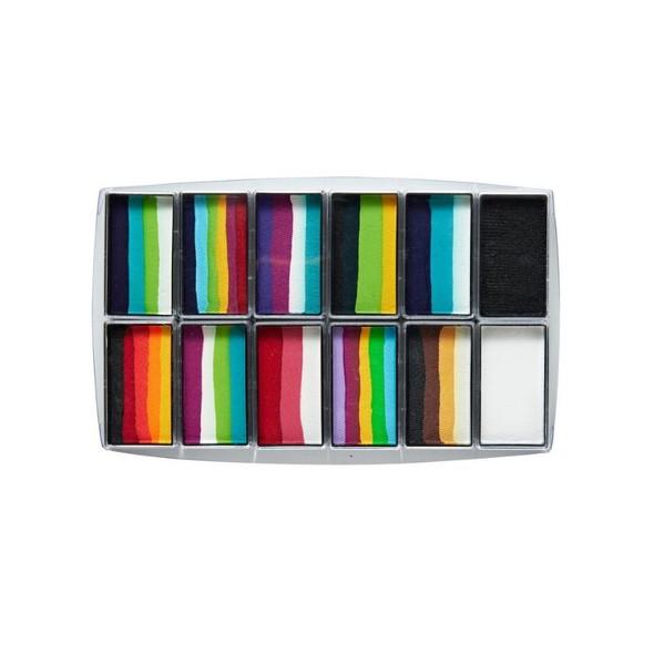 Explosion 12 Set Face and Body Paint Palette by Global Colours Palette Face Paint Shop Australia