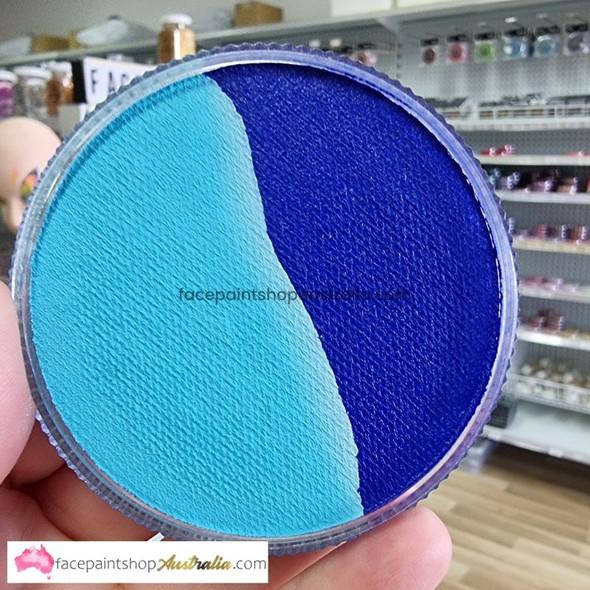 LIGHT BLUE/MID BLUE SPLIT 30g essential by Face Paints Australia