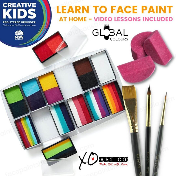 Creative Kids Face Paint Kit Carnival By Global Colours