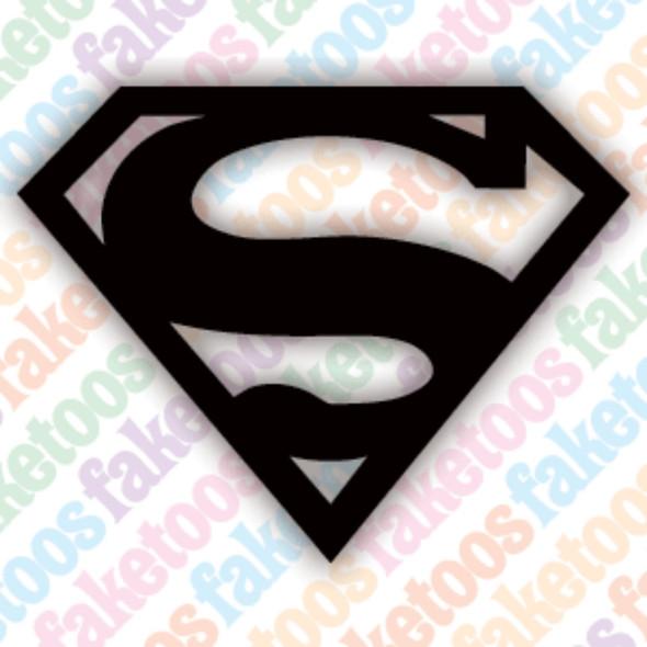 SUPERMAN Glitter Tattoo Stencils (x6) by Faketoos